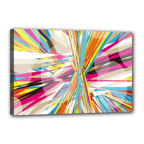 Illustration Material Collection Line Rainbow Polkadot Polka Canvas 18  x 12