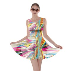 Illustration Material Collection Line Rainbow Polkadot Polka Skater Dress