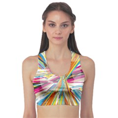 Illustration Material Collection Line Rainbow Polkadot Polka Sports Bra