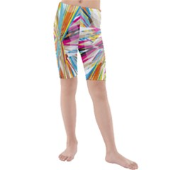 Illustration Material Collection Line Rainbow Polkadot Polka Kids  Mid Length Swim Shorts