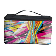 Illustration Material Collection Line Rainbow Polkadot Polka Cosmetic Storage Case