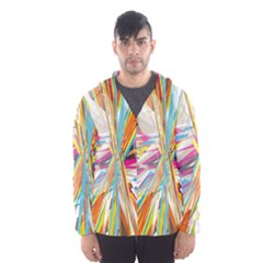 Illustration Material Collection Line Rainbow Polkadot Polka Hooded Wind Breaker (Men)