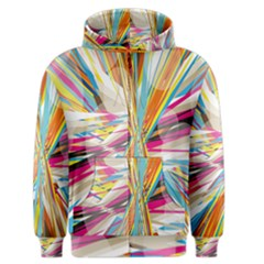 Illustration Material Collection Line Rainbow Polkadot Polka Men s Zipper Hoodie