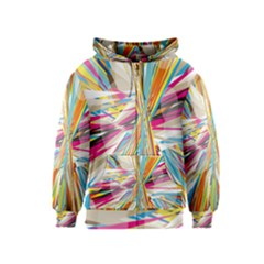 Illustration Material Collection Line Rainbow Polkadot Polka Kids  Zipper Hoodie
