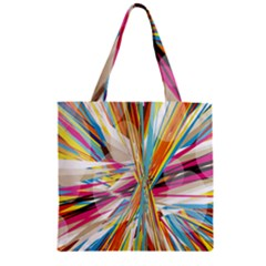 Illustration Material Collection Line Rainbow Polkadot Polka Zipper Grocery Tote Bag