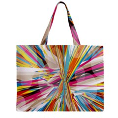 Illustration Material Collection Line Rainbow Polkadot Polka Zipper Mini Tote Bag