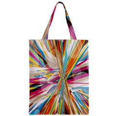 Illustration Material Collection Line Rainbow Polkadot Polka Zipper Classic Tote Bag by Mariart