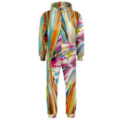 Illustration Material Collection Line Rainbow Polkadot Polka Hooded Jumpsuit (Men)