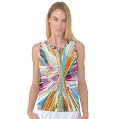 Illustration Material Collection Line Rainbow Polkadot Polka Women s Basketball Tank Top
