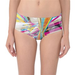 Illustration Material Collection Line Rainbow Polkadot Polka Mid Waist Bikini Bottoms by Mariart