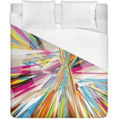 Illustration Material Collection Line Rainbow Polkadot Polka Duvet Cover (California King Size)