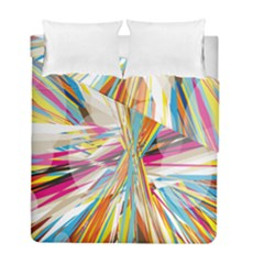Illustration Material Collection Line Rainbow Polkadot Polka Duvet Cover Double Side (Full/ Double Size)