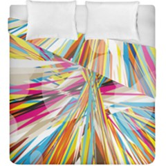 Illustration Material Collection Line Rainbow Polkadot Polka Duvet Cover Double Side (King Size)