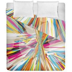 Illustration Material Collection Line Rainbow Polkadot Polka Duvet Cover Double Side (California King Size)