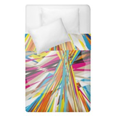 Illustration Material Collection Line Rainbow Polkadot Polka Duvet Cover Double Side (Single Size)