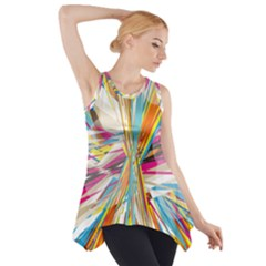 Illustration Material Collection Line Rainbow Polkadot Polka Side Drop Tank Tunic
