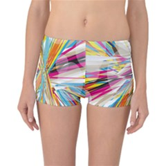 Illustration Material Collection Line Rainbow Polkadot Polka Reversible Boyleg Bikini Bottoms