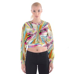 Illustration Material Collection Line Rainbow Polkadot Polka Cropped Sweatshirt