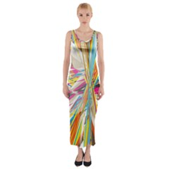 Illustration Material Collection Line Rainbow Polkadot Polka Fitted Maxi Dress