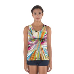 Illustration Material Collection Line Rainbow Polkadot Polka Women s Sport Tank Top