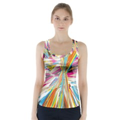 Illustration Material Collection Line Rainbow Polkadot Polka Racer Back Sports Top
