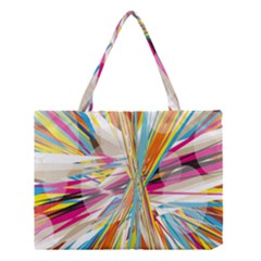 Illustration Material Collection Line Rainbow Polkadot Polka Medium Tote Bag by Mariart