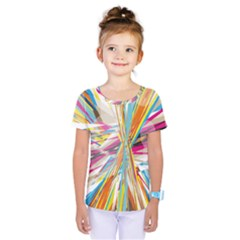 Illustration Material Collection Line Rainbow Polkadot Polka Kids  One Piece Tee