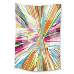 Illustration Material Collection Line Rainbow Polkadot Polka Large Tapestry