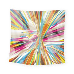 Illustration Material Collection Line Rainbow Polkadot Polka Square Tapestry (Small)