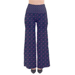 Purple Floral Seamless Pattern Flower Circle Star Pants by Mariart