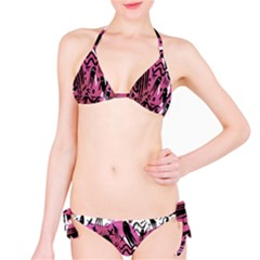 Octopus Colorful Cartoon Octopuses Pattern Black Pink Bikini Set by Mariart