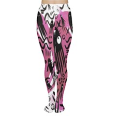 Octopus Colorful Cartoon Octopuses Pattern Black Pink Women s Tights by Mariart