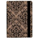 DAMASK1 BLACK MARBLE & BROWN COLORED PENCIL (R) Apple iPad Pro 9.7   Flip Case View2