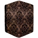 DAMASK1 BLACK MARBLE & BROWN COLORED PENCIL (R) Apple iPad Pro 9.7   Flip Case View3
