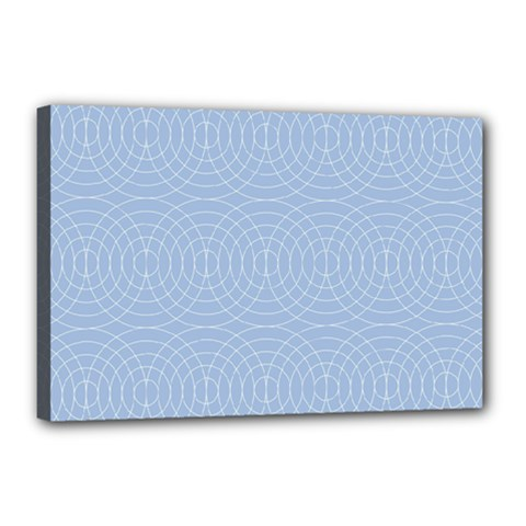 Seamless Lines Concentric Circles Trendy Color Heavenly Light Airy Blue Canvas 18  X 12  by Mariart