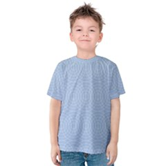 Seamless Lines Concentric Circles Trendy Color Heavenly Light Airy Blue Kids  Cotton Tee by Mariart