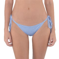 Seamless Lines Concentric Circles Trendy Color Heavenly Light Airy Blue Reversible Bikini Bottom