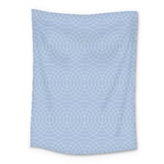 Seamless Lines Concentric Circles Trendy Color Heavenly Light Airy Blue Medium Tapestry by Mariart