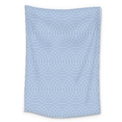 Seamless Lines Concentric Circles Trendy Color Heavenly Light Airy Blue Large Tapestry by Mariart
