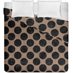 Circles2 Black Marble & Brown Colored Pencil (r) Duvet Cover Double Side (king Size) by trendistuff