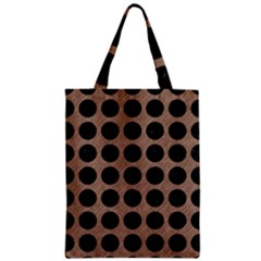 Circles1 Black Marble & Brown Colored Pencil (r) Zipper Classic Tote Bag by trendistuff