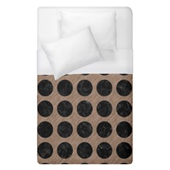 Circles1 Black Marble & Brown Colored Pencil (r) Duvet Cover (single Size) by trendistuff