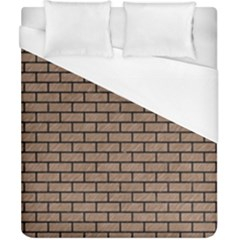 Brick1 Black Marble & Brown Colored Pencil (r) Duvet Cover (california King Size) by trendistuff