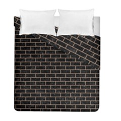 Brick1 Black Marble & Brown Colored Pencil Duvet Cover Double Side (full/ Double Size) by trendistuff