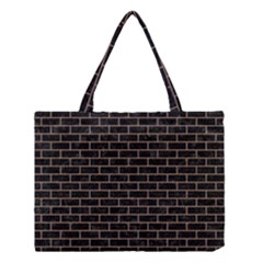 Brick1 Black Marble & Brown Colored Pencil Medium Tote Bag by trendistuff
