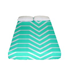 Seamless Pattern Of Curved Lines Create The Effect Of Depth The Optical Illusion Of White Wave Fitted Sheet (full/ Double Size) by Mariart