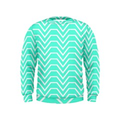 Seamless Pattern Of Curved Lines Create The Effect Of Depth The Optical Illusion Of White Wave Kids  Sweatshirt