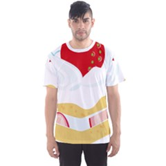 Seeds Strawberry Bread Fruite Red Men s Sports Mesh Tee by Mariart