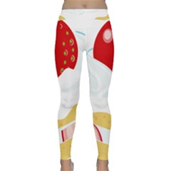 Seeds Strawberry Bread Fruite Red Classic Yoga Leggings by Mariart