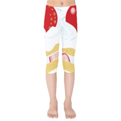 Seeds Strawberry Bread Fruite Red Kids  Capri Leggings  by Mariart